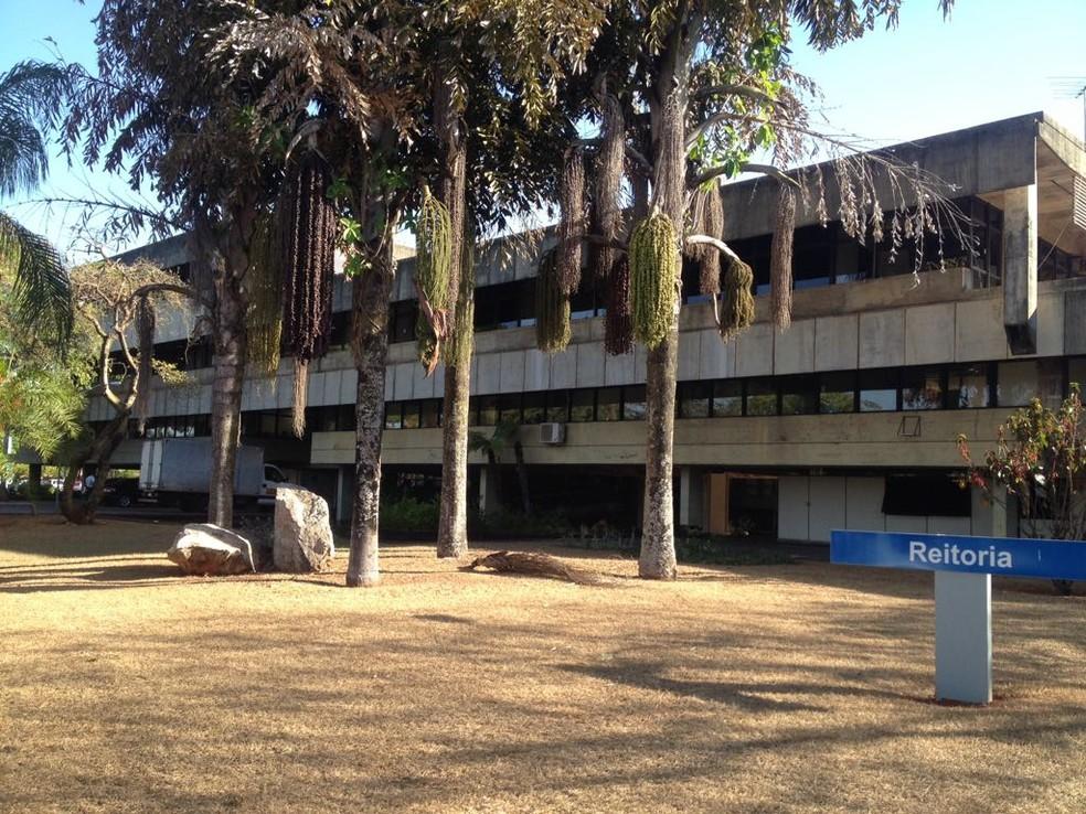 Reitoria da UnB, no Campus Darcy Ribeiro — Foto: Bianca Marinho/G1