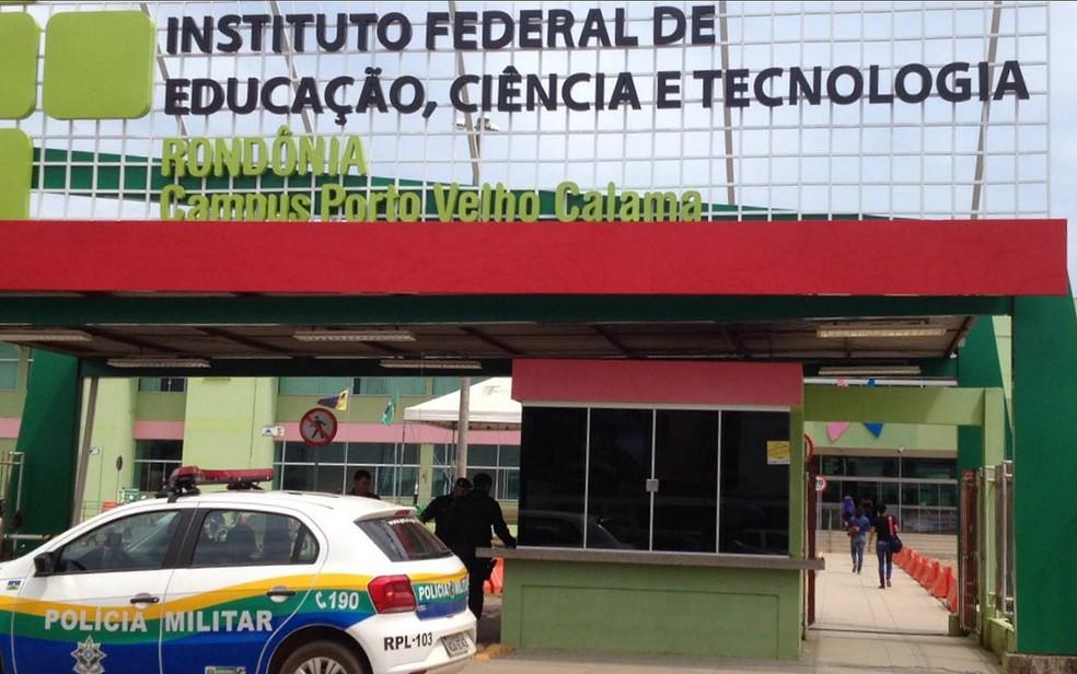 Crime teria acontecido no campus Calama, em Porto Velho — Foto: Rede Amazônica/Reprodução