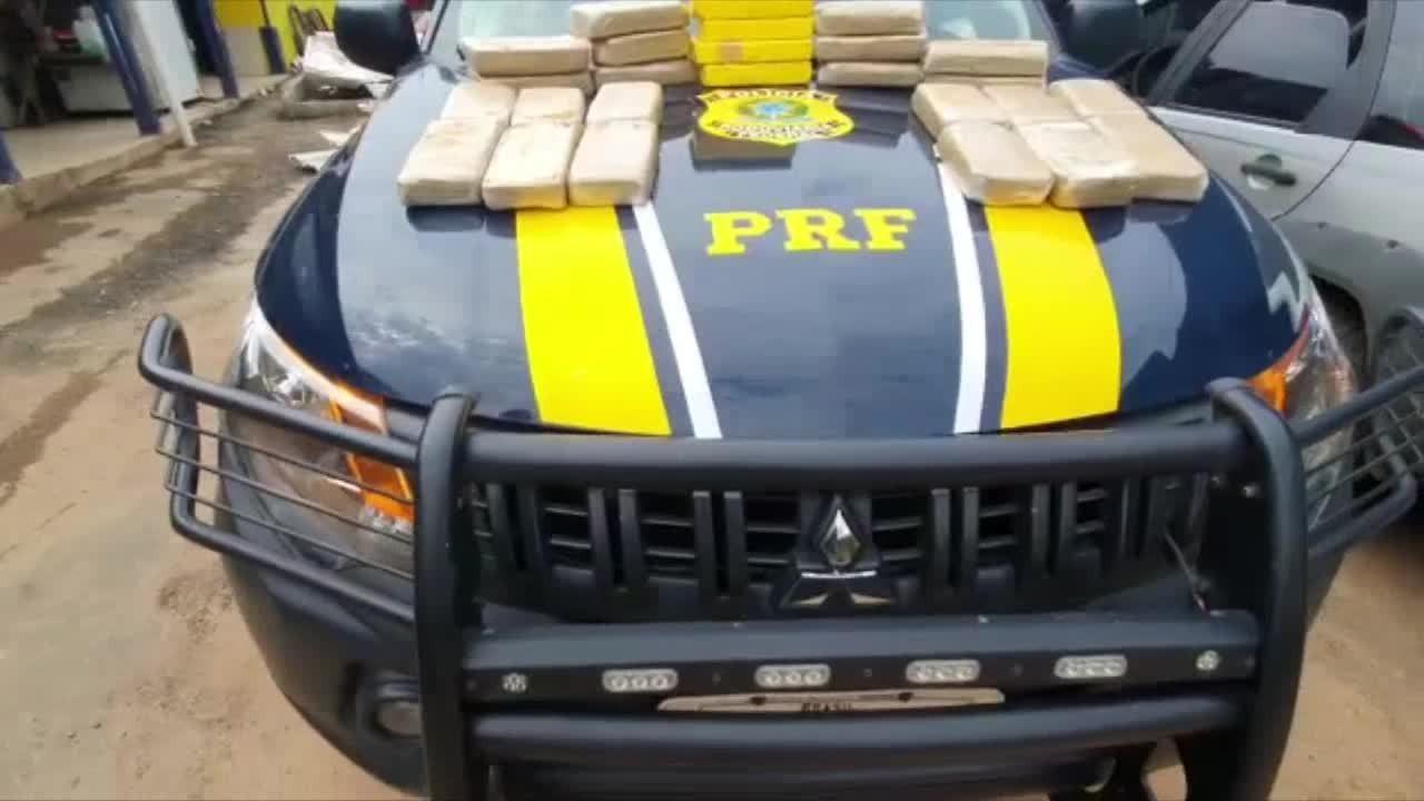 PRF apreende 29 quilos de drogas em Ji-Paraná