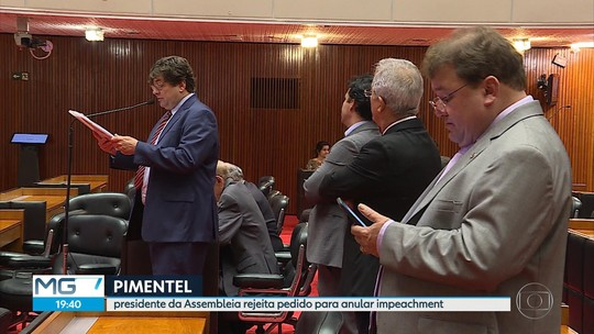 ALMG rejeita um dos questionamentos contra pedido de impeachment de Pimentel