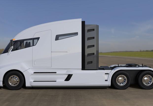 O caminhão elétrico da Tesla (Foto: Tesla)