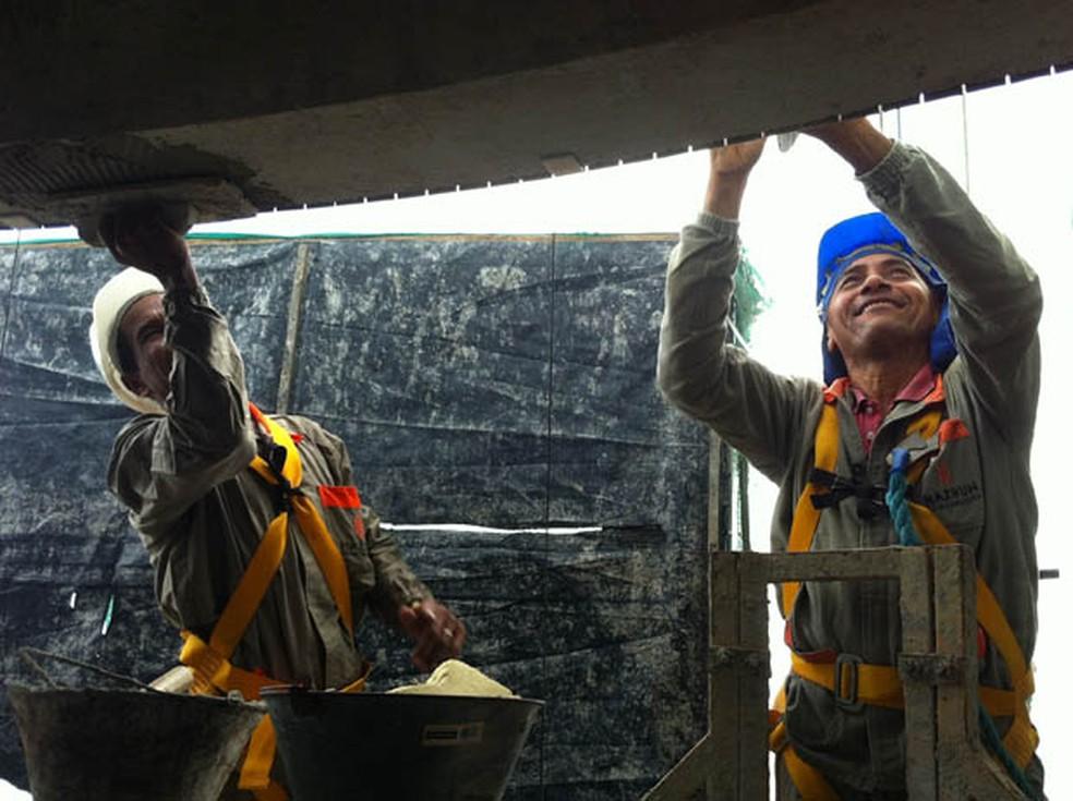 Setor de Construção Civil no RN teve saldo positivo de vagas de trabalho (Foto: Arquivo) (Foto: Fernanda Zauli/G1)