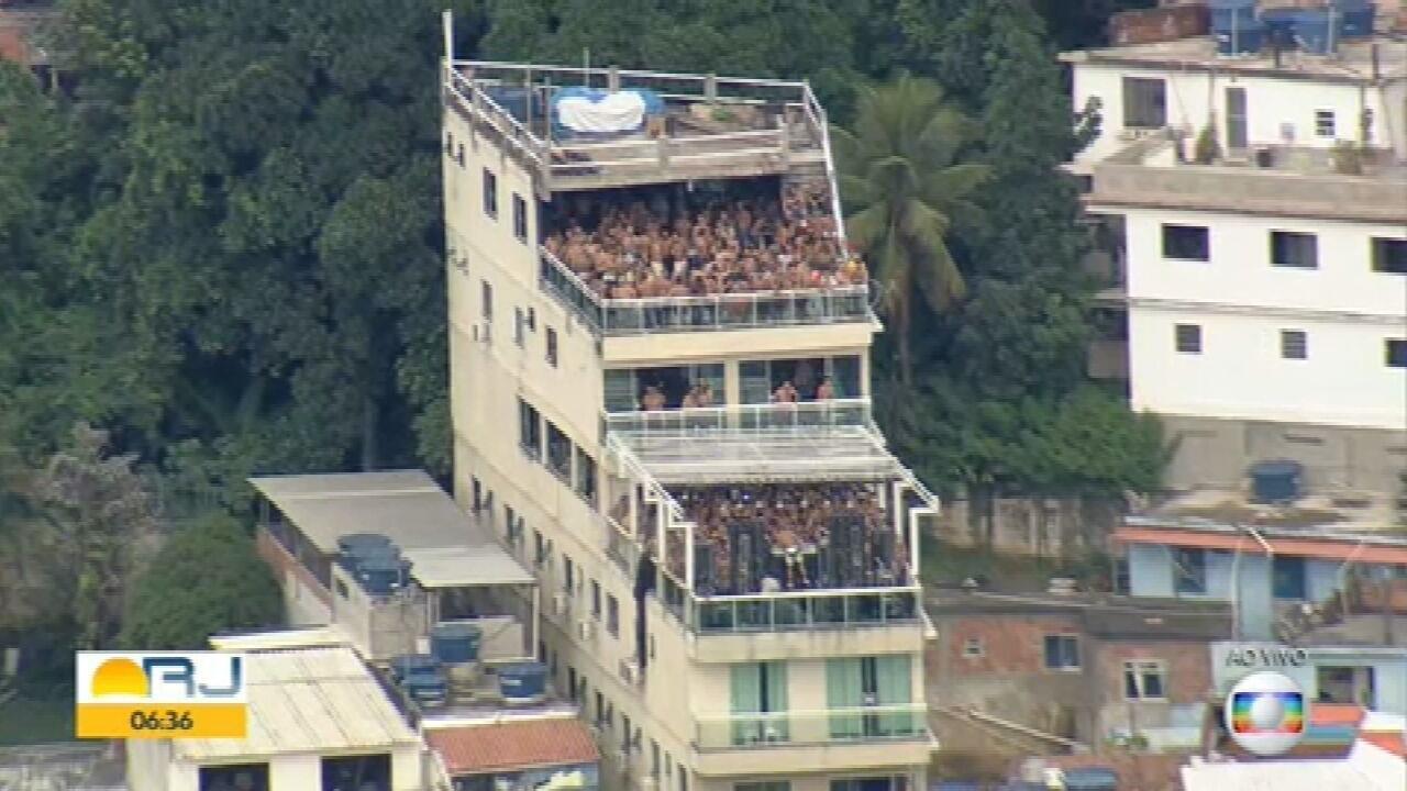 Desrespeito continua em mais uma festa clandestina no Morro do Vidigal