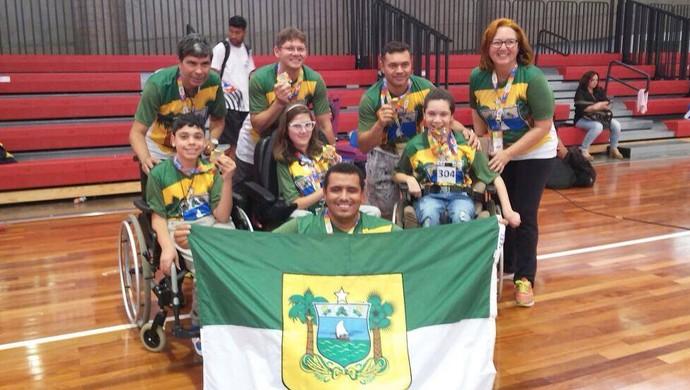Bocha Rio Grande do Norte Paralimpíadas Escolares (Foto: Divulgação/Aparn)