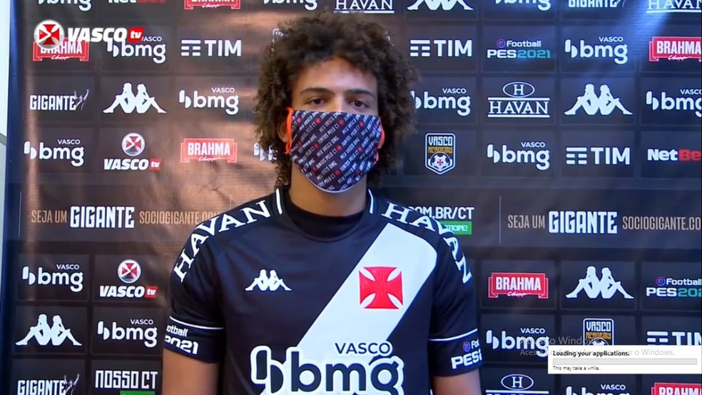 Neto Borges foi apresentado como reforço do Vasco — Foto: Reprodução