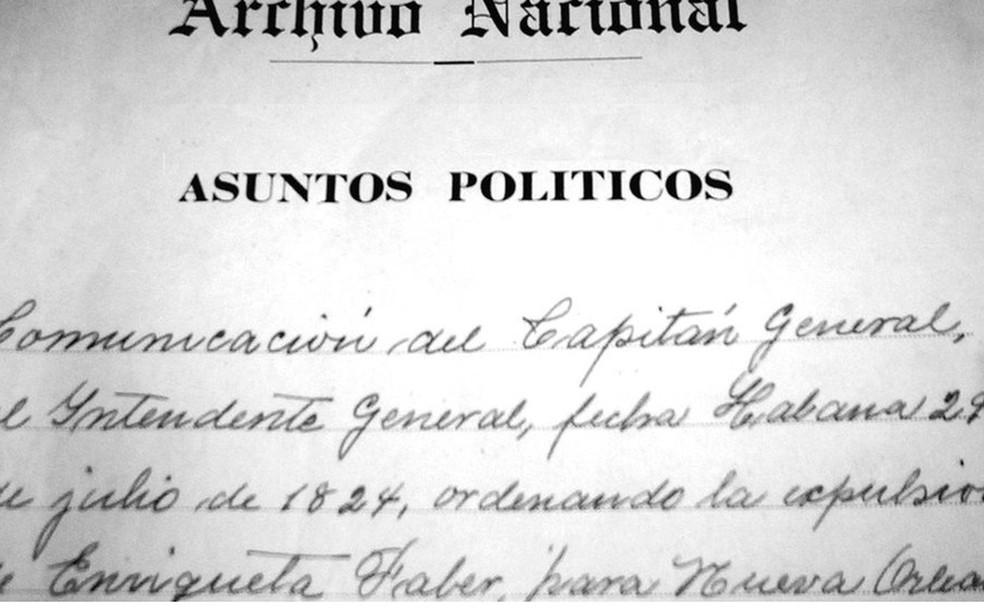 No Arquivo Nacional de Cuba, estão os documentos do processo judicial e da deportação de Enriqueta Favez (Foto: Cortesia/ Julio César González Pagés)