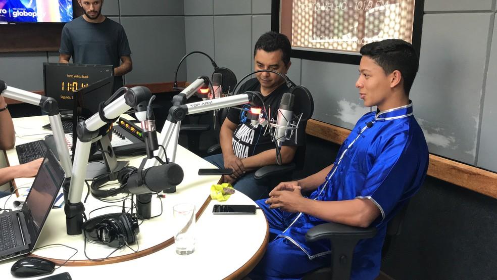 Henrique em entrevista à CBN Amazônia — Foto: Reprodução/Rede Amazônica