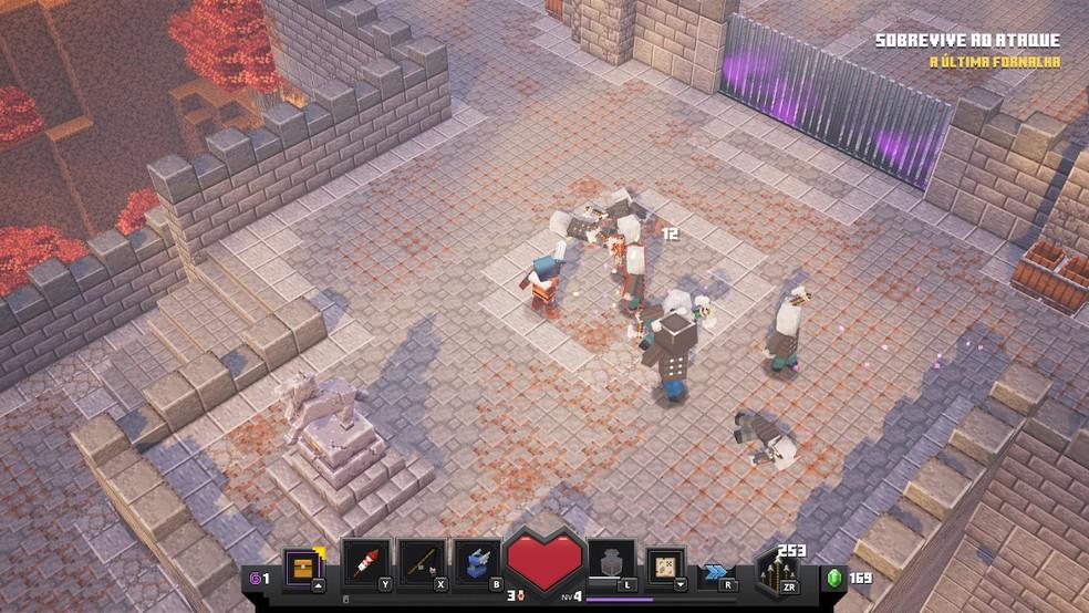 Minecraft Dungeons se inspira em Diablo 3 — Foto: Reprodução/Felipe Vinha
