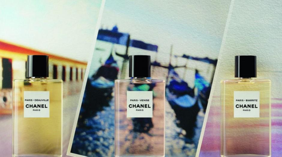 As três novas fragrâncias da marca, que celebram cidades que de alguma forma marcaram a vida de Chanel (Foto: Reprodução/Chanel)