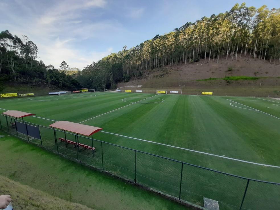 Campo do China Park — Foto: Davi Barros/GloboEsporte.com