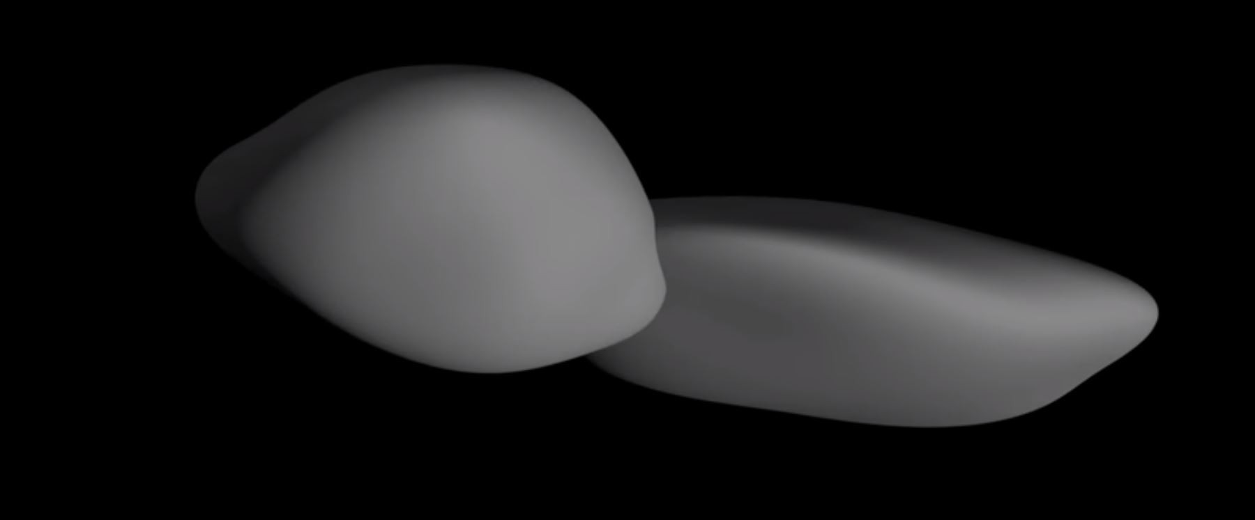 O formato real da Ultima Thule.  (Foto: NASA)