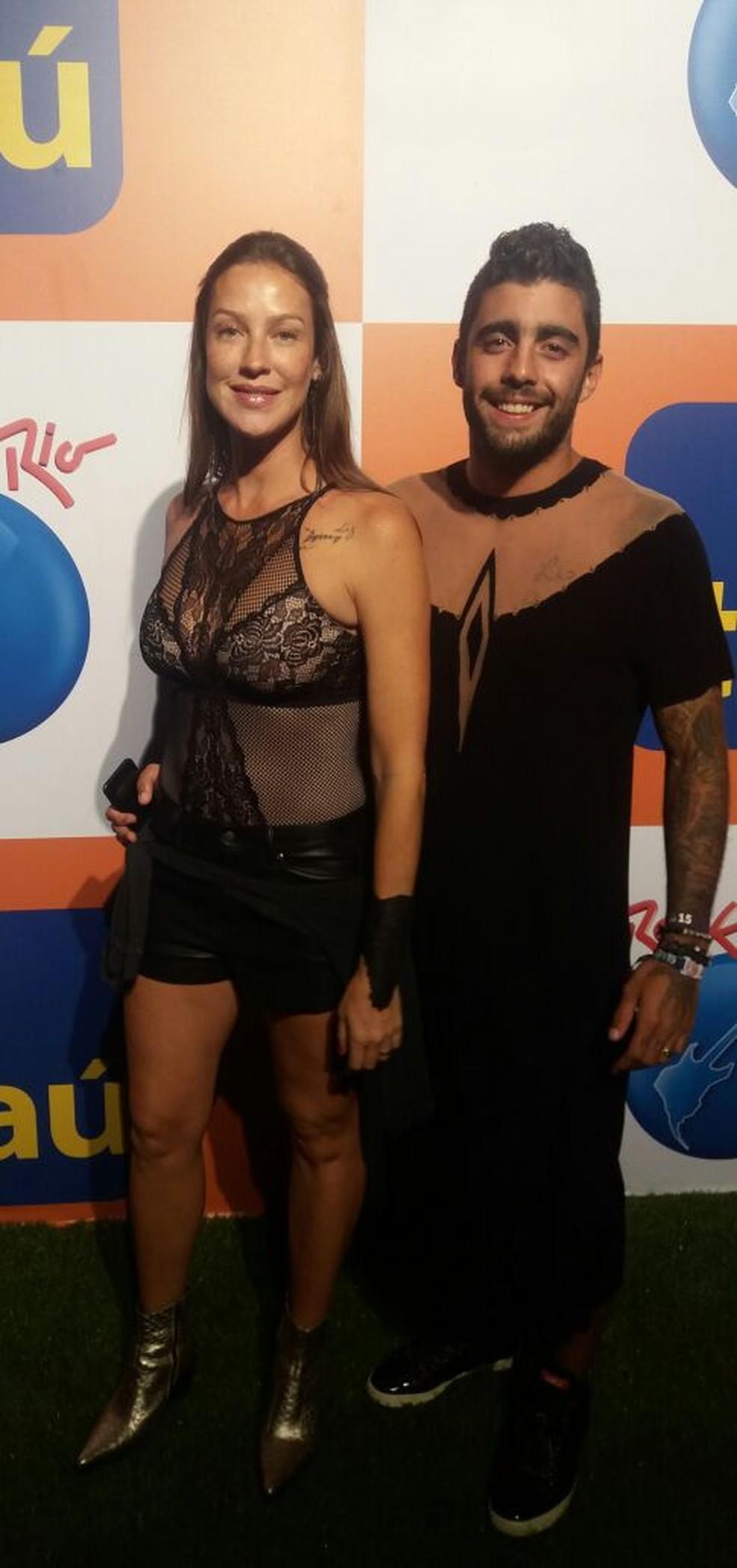 Luana Piovani e Pedro Scooby no Rock in Rio 2017 (Foto: Anderson Dezan / Gshow)