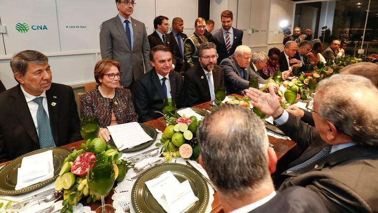 bolsonaro-jantar-arabes-cna (Foto: Alan Santos/Presidência da República)
