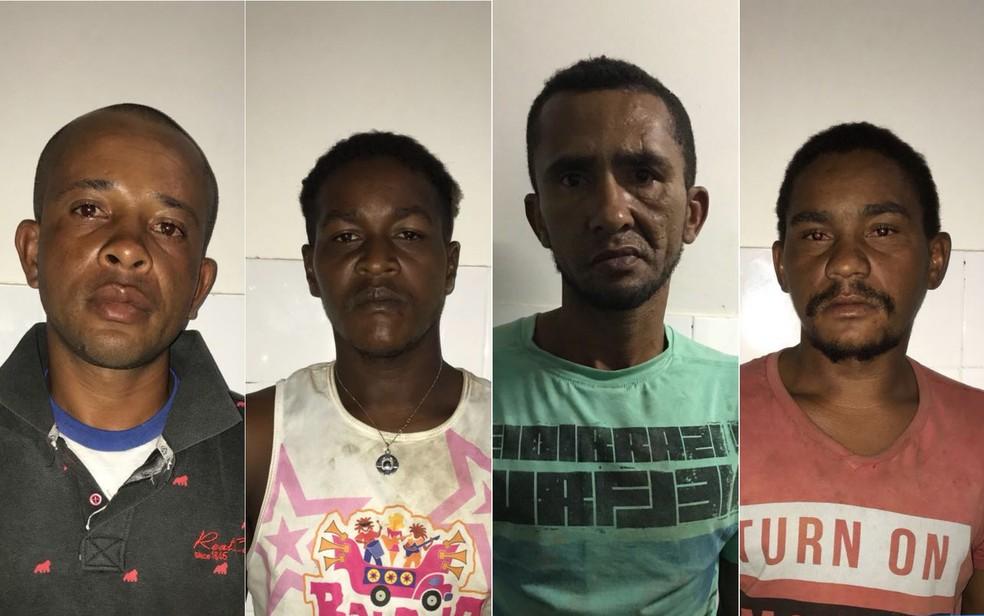Quarteto foi preso após denúncia anônima (Foto: Divulgação/SSP-BA)