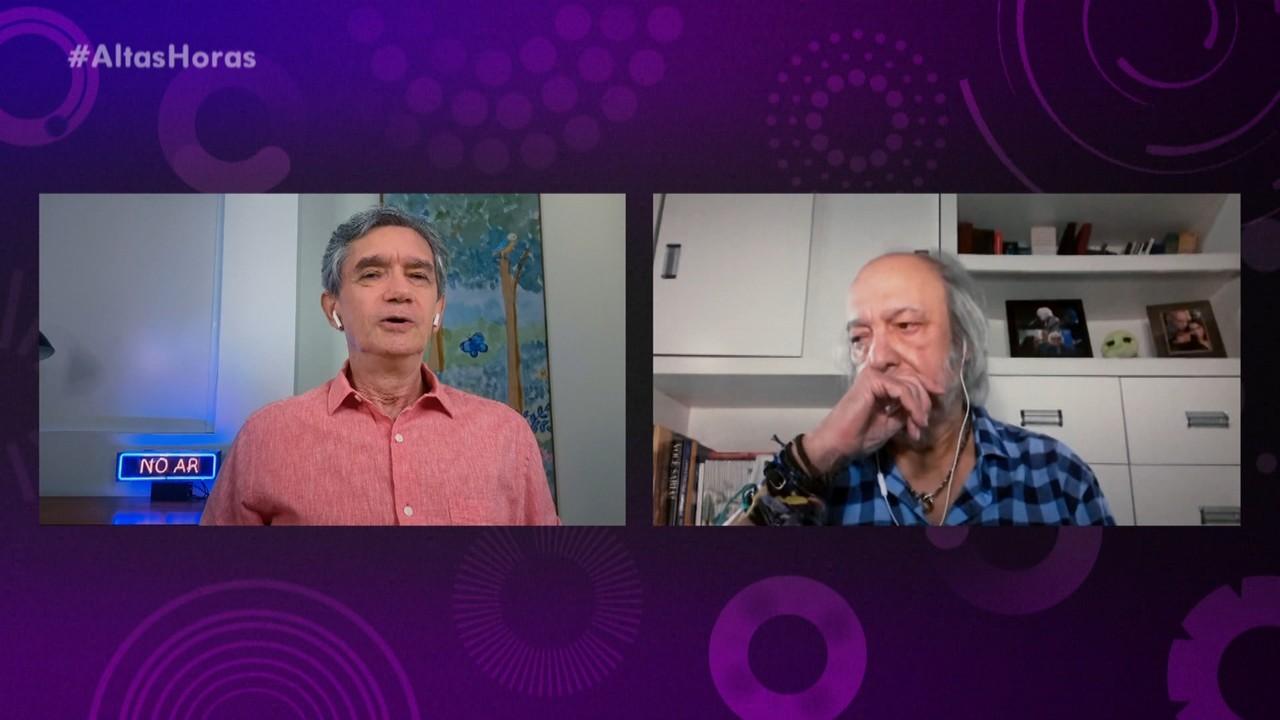 Serginho Groisman conversa com Erasmo Carlos sobre homenagem do Altas Horas