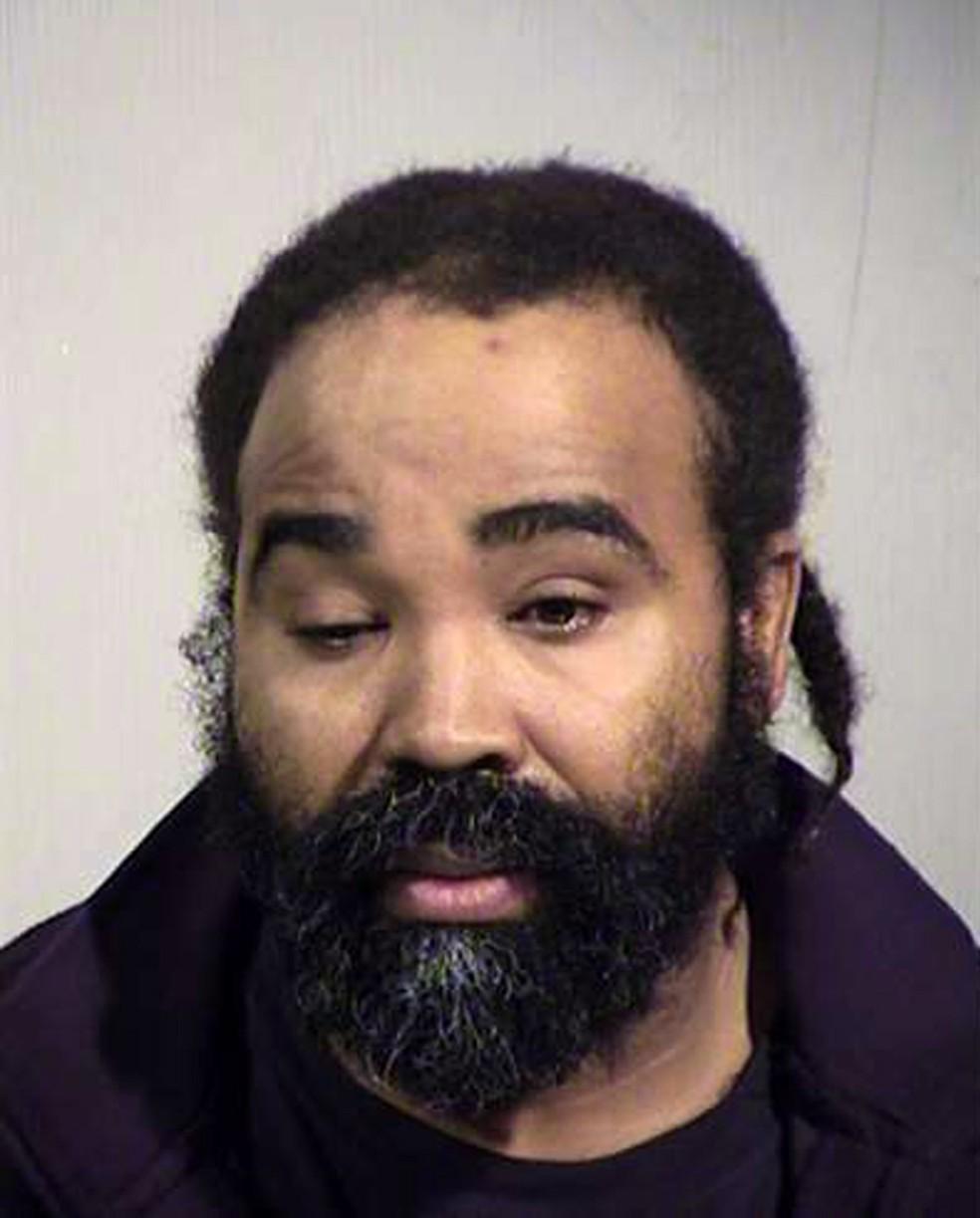 Nathan Sutherland foi preso sob acusação de abusar da mulher que engravidou enquanto estava internada numa clínica no Arizona — Foto: Maricopa County Sheriff's Office via AP