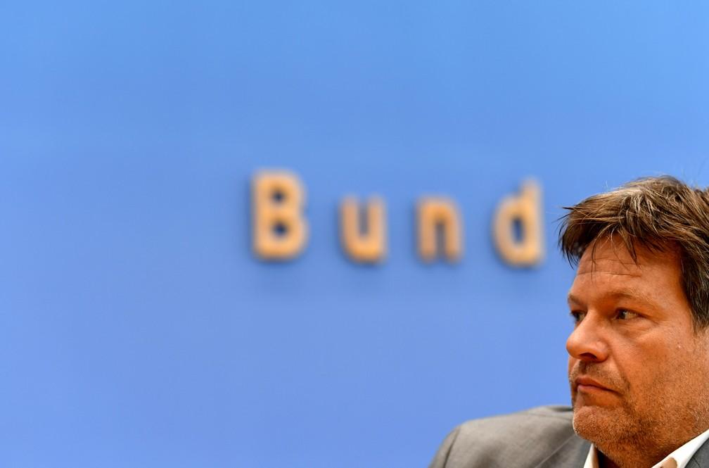 Robert Habeck, líder do Partido Verde na Alemanha, onde a sigla foi a segunda mais votada — Foto: Annegret Hilse/Reuters