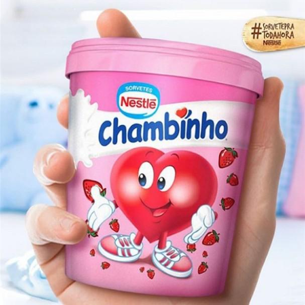 Pote de sorvete Chambinho  (Foto: Reprodução)