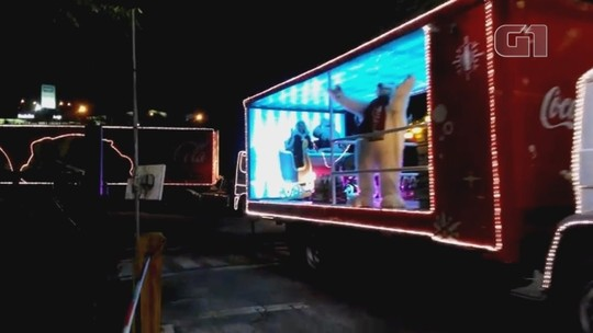 Confira onde a Caravana de Natal da Coca-Cola vai passar hoje