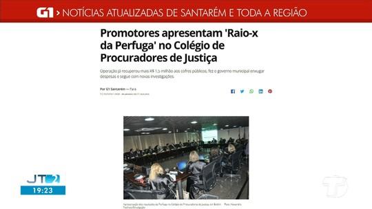 'Raio-x da Perfuga' colegio de Procuradores de justiça é destaque no G1 Santarém e região