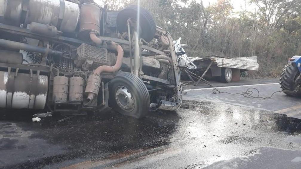 Acidente matou quatro pessoas na BR-174, município de Porto Esperidião — Foto: Divulgação