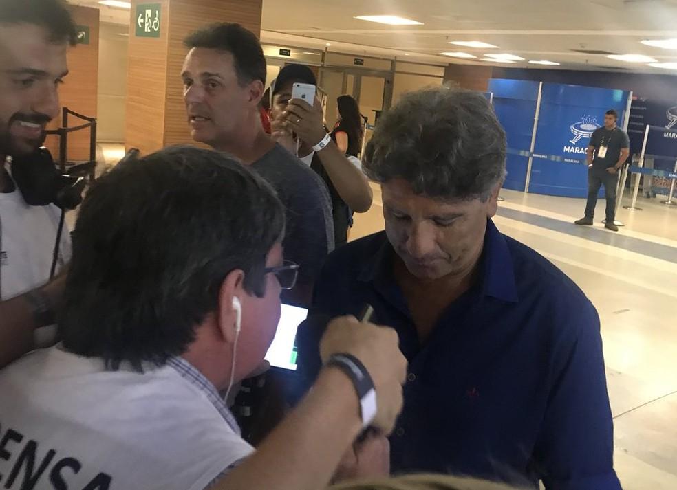 Renato Gaúcho antes do Jogo das Estrelas (Foto: Amanda Kestelman)