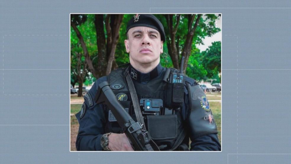 O cabo da Polícia Militar do Distrito Federal Daniel Donizet — Foto: TV Globo/Reprodução