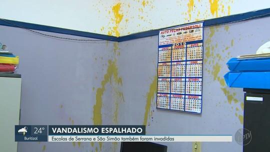 Escolas são vandalizadas em São Simão e em Serrana durante o carneval