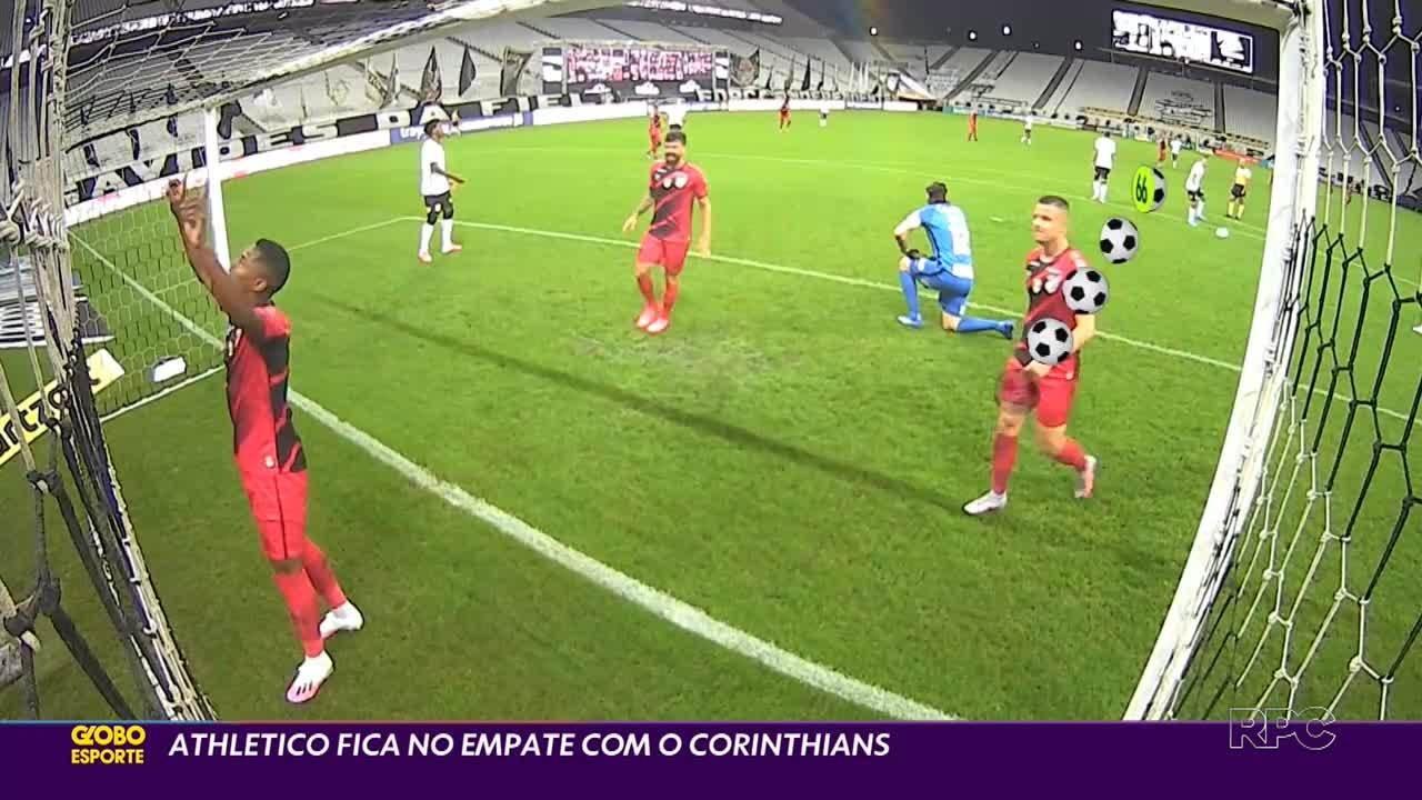 Athletico e Corinthians fazem jogão de seis gols, mas ficam no empate