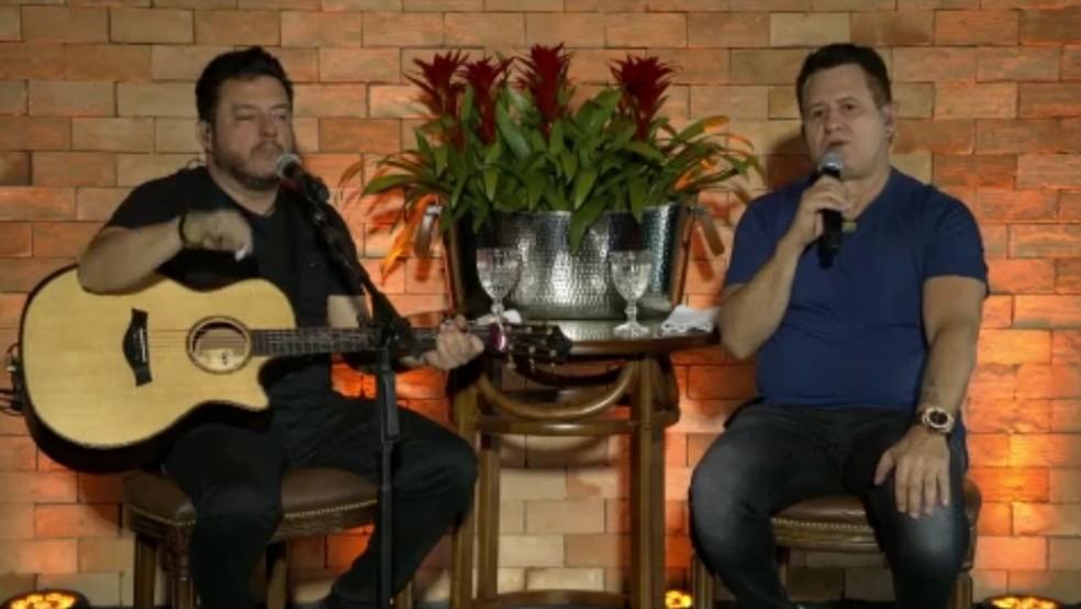 Músicos destacam importância de doações — Foto: Reprodução/TV Globo