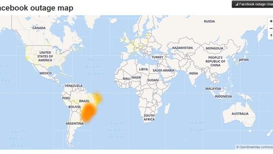 e0a8b1ae7 Os três pertencem ao Facebook. Depois das 19h, usuários afirmaram que o  serviço foi restabelecido.