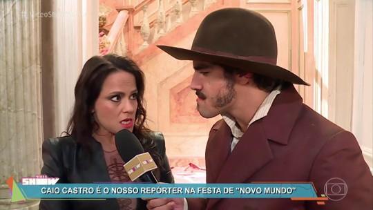 Caio Castro brinca com visual de Vivianne Pasmanter: 'Mendiguinha na novela'