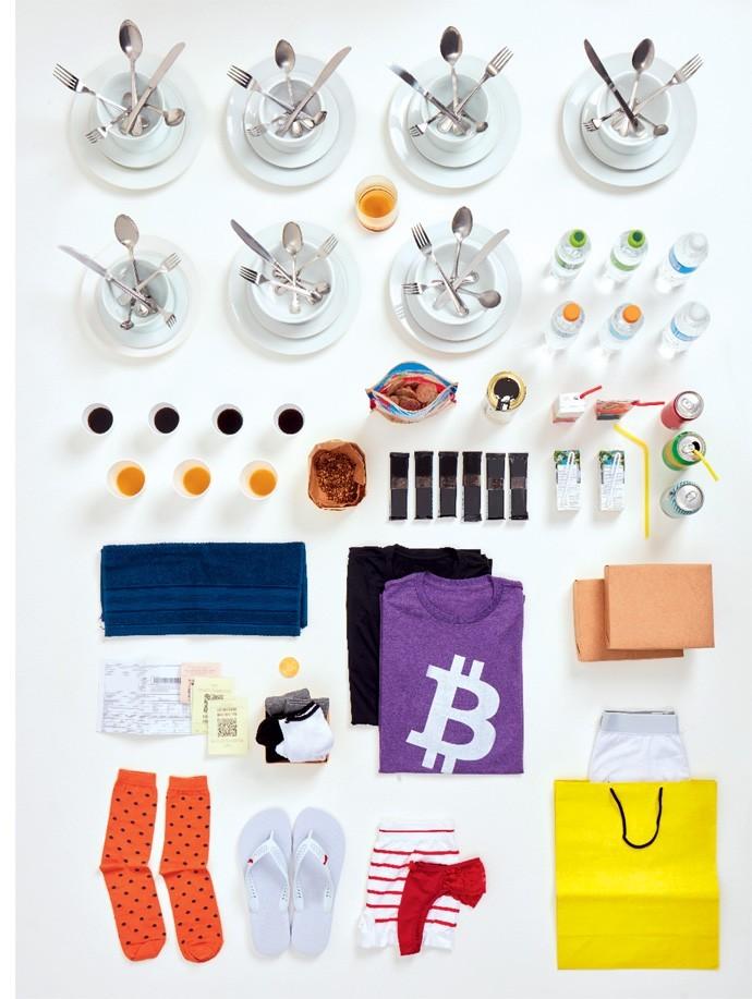 O saldo de compras com bitcoins (Foto: Julia Rodrigues e Tomás Arthuzzi)