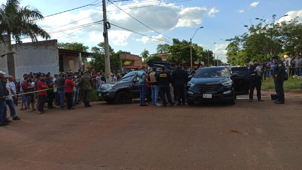 Homem foi morto com vários tiros de fuzil de pistola, em Pedro Juan Caballero, Paraguai. — Foto: Pedrojuaninos Online/Foto