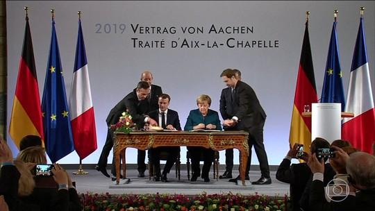 Alemanha e França assinam novo tratado para fortalecer União Europeia