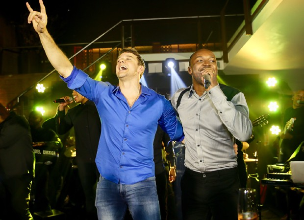 Rogperio Padovan e Thiaguinho (Foto: Manuela Scarpa/Brazil News )