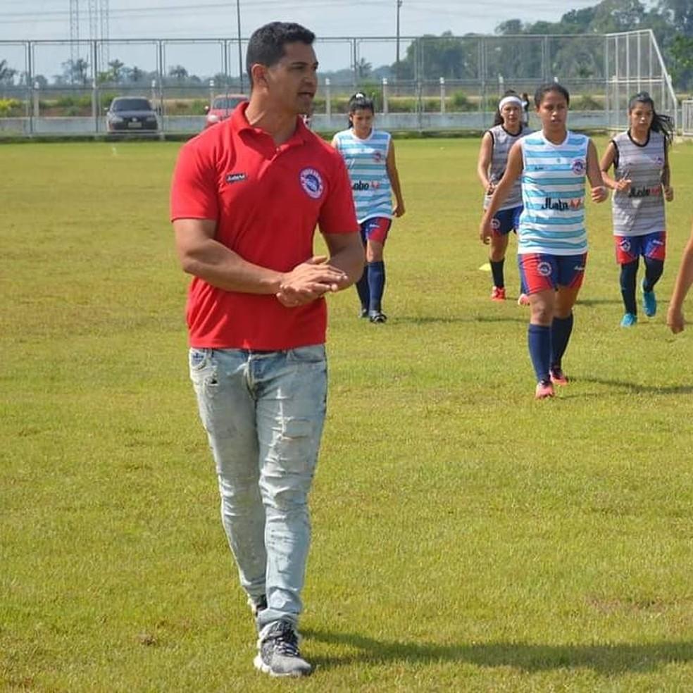 Paulo Eduardo técnico do Porto Velho  — Foto: Alexandre Almeida/ Futebol do Norte