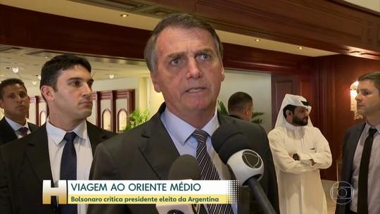 Bolsonaro critica presidente eleito da Argentina