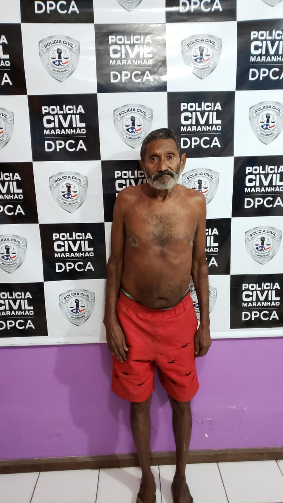Dimas Alves Coutinho foi encaminhado ao Complexo Penitenciário de Pedrinhas em São Luís — Foto: Divulgação/Polícia Civil