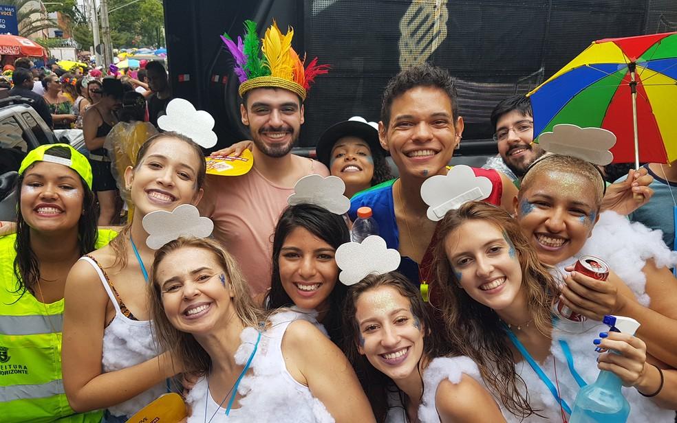 Nem a chuva deve atrapalhar a animação dos foliões de Belo Horizonte neste fim de semana (Foto: Raquel Freitas/G!)