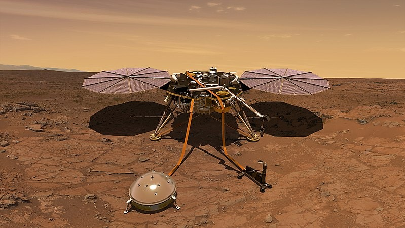 Sonda InSight da NASA (Foto: NASA/Wikimedia Commons)
