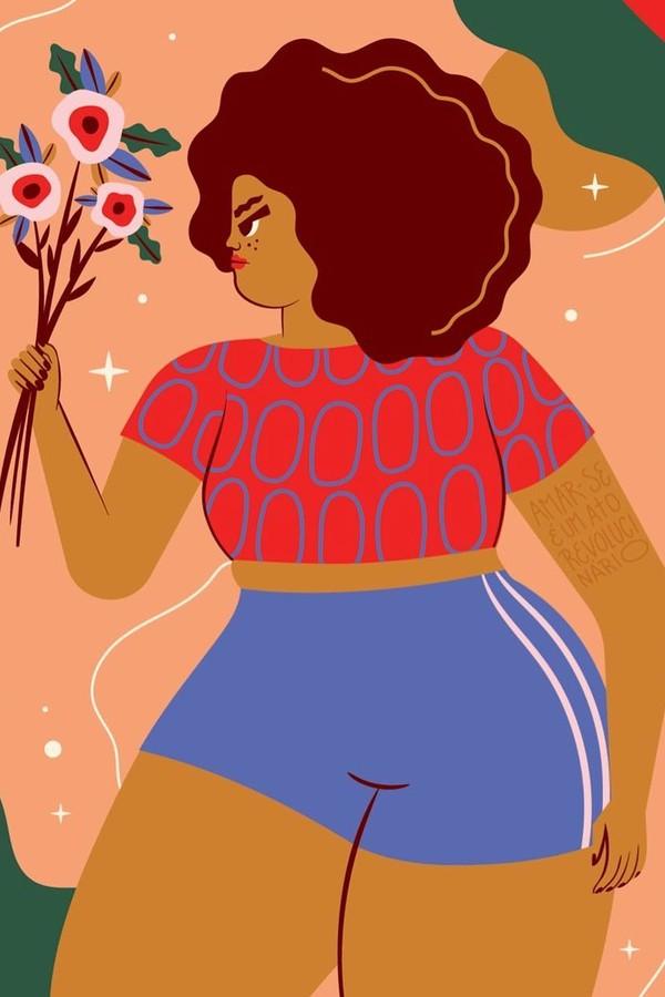 Ilustração de Camila Rosa (Foto: Reprodução)