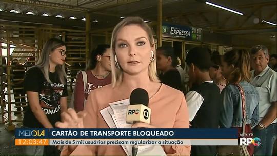 Mais de cinco mil usuários têm cartão-transporte bloqueados em Ponta Grossa