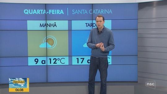 26 cidades de Santa Catarina registram temperaturas negativas nesta quarta
