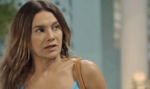 Na segunda-feira (27), após descobrir que o Jerônimo (Jesuíta Barbosa) roubou sua receita de bombom, Janaína (Dira Paes) acusará o filho de ter se aproveitado dela e lhe aplicado um golpe | TV Globo