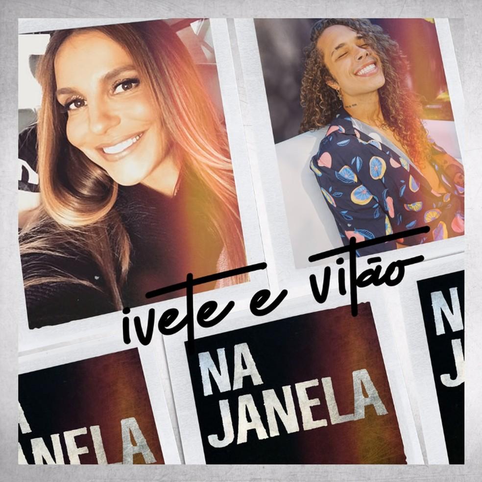 Capa do single 'Na janela', de Ivete Sangalo com Vitão — Foto: Reprodução