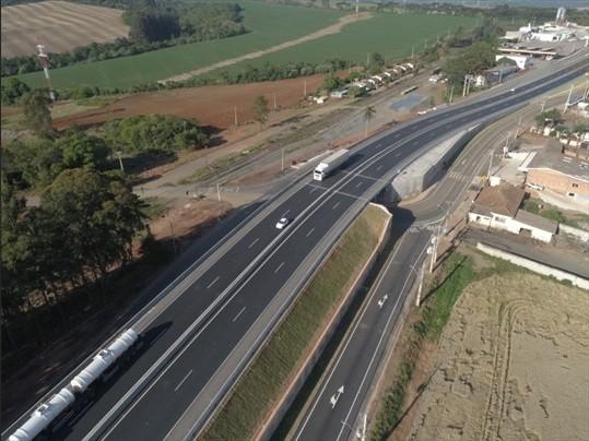 Trânsito é liberado em viaduto na área urbana da BR-373, em Ponta Grossa; veja o que muda
