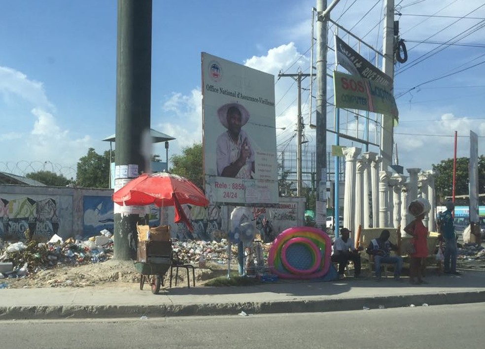 Rua de Porto Príncipe (Foto: Tahiane Stochero/G1)