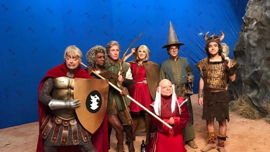 'Zorra' grava esquete inspirado em 'Caverna do Dragão'; confira cena e bastidores!