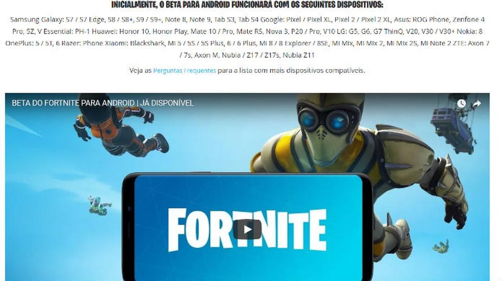 Como baixar e instalar Fortnite em dispositivos Android